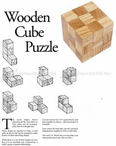 DIY Wooden Cube Puzzle - Woodworking Plans