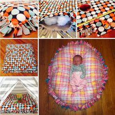 No Sew Floor Pillow