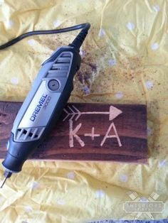 How To Etch Wood With A Dremel-- way cool