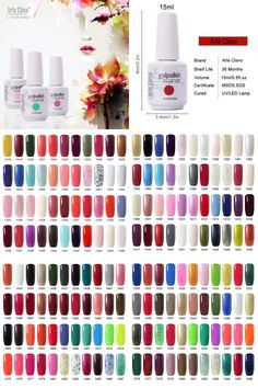 [Visit to Buy] Arte Clavo 15ml  Arte Clavo Nail Art Paint UV Gel French Nails Gel Lacquer Colored Nail UV Gel Polish #Advertisement