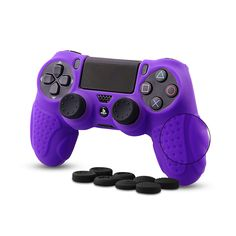 CHINFAI Controller DualShock 4 Skin Grip Anti-slip Silicone Cover Protector Case for Sony Pro Controller with 8 Thumb Grips Ps4 Controller Grip, Sony, Nice, Check, Products, Nice France, Beauty Products