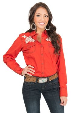 You were never meant to fit in. Stand out and shine bright in this bright western shirt from #Ariat!