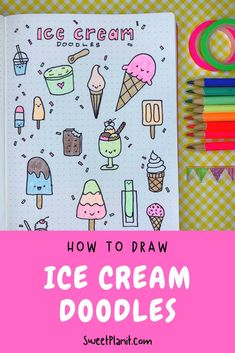 How to Draw Cute Ice Cream Doodles - How-to Videos and Lots of Fun and Easy to Draw Ideas! Kawaii Drawings, Doodle Drawings, Doodle Art, Doodle Ideas, Bullet Journal Contents, Bullet Journal Hacks, Bullet Journals, Kawaii Doodles, Cute Doodles