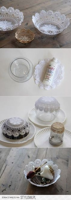 How to use crochet doilies in a good way