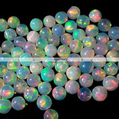 10 pieces 5mm ethiopian opal cabochon round AAA Quality