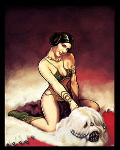 Pin Up Leia by *ninjaink