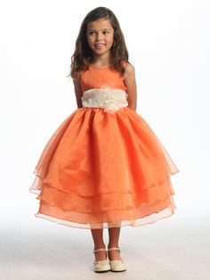 tangerine flower girl dress from pinkmarie #wedding