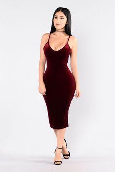 In My Zone Dress - Burgundy