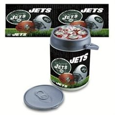 New York Jets NY Portable Tailgating Can Cooler & Seat