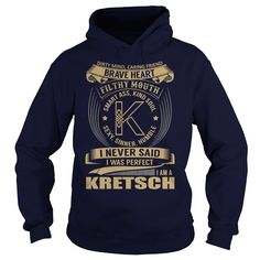 (Tshirt Best Tshirt) KRETSCH Last Name Surname Tshirt Coupon Today Hoodies Tees Shirts