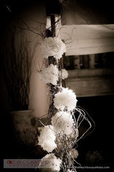 decorate a ceremony arch to tie in your wedding flowers throughout the entire wedding