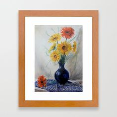 Gerberas in blue vase The original picture is pastel painting Print is made from the scanned version Lovely unique lounges on mothers day, or for another occasion. Framed Art Prints, Painting Prints, Lounges, Unique Art, Mothers, Cool Pictures, Pastel, Passion, Contemporary