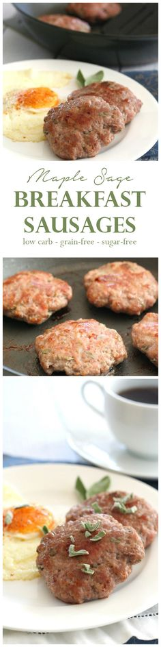 Low Carb Breakfast Sausage Collage