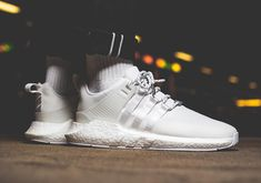 """How the adidas EQT Support 93/17 Gore-Tex """"Triple White"""" Looks On-Feet"""
