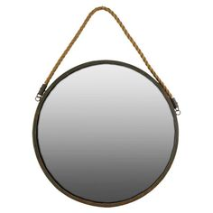 Urban Trends Round Wall Mirror with Rope   AllModern