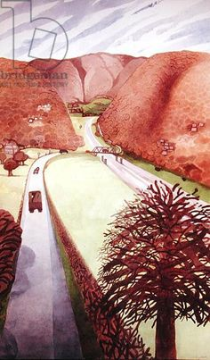 Wye Valley II (date unknown) by Edward Burra
