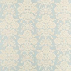 Tatton Duck Egg/Pale Linen Damask Wallpaper
