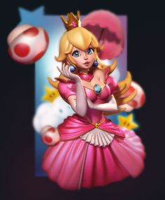 The ZBrush user gallery - showcasing the amazing artwork being shared by our ZBrushCentral community. Super Mario Bros, Super Mario Brothers, Zbrush, Nintendo Princess, Princess Games, Mario And Princess Peach, Princess Daisy, Metroid, Mario Fan Art
