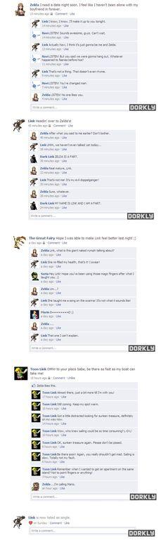 Link and Zelda's relationship on FB