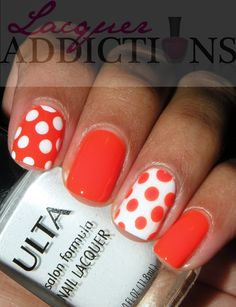 """Orly's """"Orange Punch"""". Lacquer Addictions nail blog."""