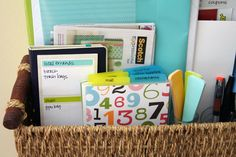 Create an Errand Center using Home Collection Products from Scotch Brand and Post-it Brand available at The Container Store.