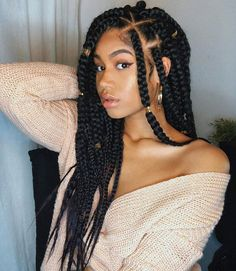 Goddess braids are sleek, sexy and trendy. Like many other braided styles, there's something exciting about goddess braids hairstyles, which is why so many women have been getting the look. Protective Hairstyles For Natural Hair, Natural Hair Braids, Braided Hairstyles For Black Women, African Braids Hairstyles, Braids For Black Hair, Black Hairstyles, Goddess Hairstyles, Casual Hairstyles, Popular Hairstyles
