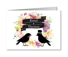 Vogelpaar: Bräutigam & Bräutigam - #Einladungskarten zur Hochzeit