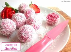 (3) Strawberry Ripe Bliss Balls - by Low Carb Lovelies