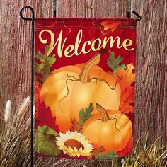 Mini Fall Garden Flag - TerrysVillage.com