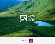 Grand Tour des Ecrins on Behance Business Branding, Logo Branding, Branding Design, Grand Tour, Gem Logo, Japan Logo, Mountain Logos, Travel Logo, Tours
