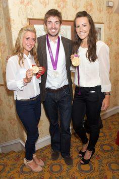 Laura Trott, Zac Purchase and Dani King - Team GB athletes