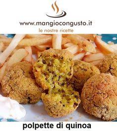 #ricetta  #polpette di #quinoa https://www.mangiocongusto.it/2018/05/26/polpette-e-burger-di-quinoa/