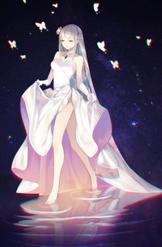"""""""I have only one wish: for all to be equal"""" ~Emilia : Re_Zero """"I have only one wish: for all to be equal"""" ~Emilia : Re_Zero Anime is hand-drawn and computer animation originating from or as. Pretty Anime Girl, Beautiful Anime Girl, Kawaii Anime Girl, Anime Art Girl, Anime Angel Girl, Anime Girl Dress, Manga Girl, Chica Anime Manga, Anime Outfits"""