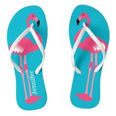 556edf68898 Pink Flamingo Personalized Flip Flops  FlipFlop  Flop  Flipping  Polkadots Flip  Flop Images
