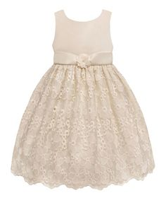 Beautiful lacy flower girl dress, perfect for that candle-lit wedding.    Another great find on #zulily! Candlelight Flower Dress - Toddler & Girls #zulilyfinds