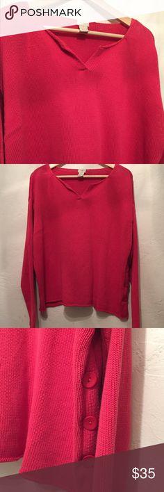 J. Jill Coral Sweater. 100% Cotton. Size Medium J. Jill Coral Sweater. 100% Cotton. Size Medium. No rips, stains or smells. J. Jill Sweaters Crew & Scoop Necks