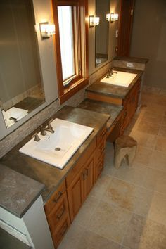 Love this recycled counter top material!!! Squak Mountain Stone - Hazel - modern - bathroom countertops - seattle - Agrestal Designs