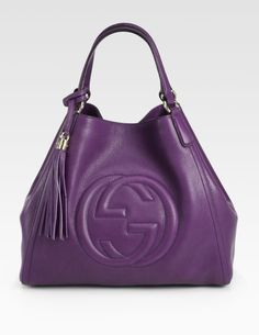 Purple Gucci | Gucci Soho Medium Shoulder Bag in Purple (ROYAL PURPLE)