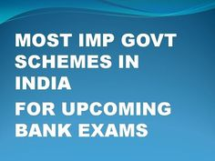 Important Govt Schemes In India For Upcoming Exams - YouTube