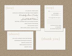 Simple Love Wedding Invitation Suite by KPickensDesigns