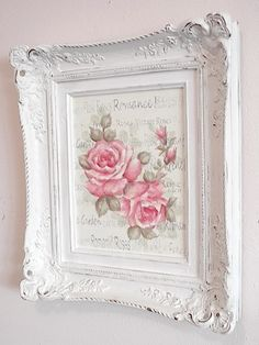 - Do you love shabby chic home decor? How about farmhouse decor? This Shabby Chic Upcy .- Do you love shabby chic home decor? How about farmhouse decor? This shabby chic upcycled photo frame is Vanity Shabby Chic, Cottage Shabby Chic, Cocina Shabby Chic, Muebles Shabby Chic, Shabby Chic Interiors, Shabby Chic Bedrooms, Shabby Chic Kitchen, Shabby Chic Homes, Shabby Chic Furniture