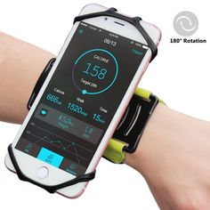 """Matone iPhone 7/7 Plus/6/6S Plus Wristband, 180° Rotatable Phone Holder Forearm Armband Ideal for Jogging Running Compatible with Samsung Galaxy S8/S7 & 4.0""""-5.5"""" Smartphone (Green)"""