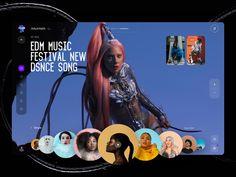 Edm Music Festivals, Ui Inspiration, Website Design Inspiration, Modern Web Design, Songs, Social Media, Concept, Digital, Creative