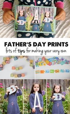 how to make a custom Father's Day photo print with stuff you have around the house