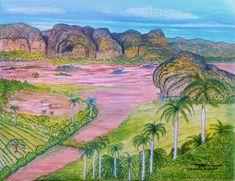 Viñales Valley Cuba - Oils Art Vinales, Mountain Art, Nature Animals, Cuban, Sunshine, Collage, Fine Art, Painting, Inspiration