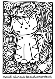 Doodle Art and Challenging Coloring Pages for Older Kids - Enjoy ...