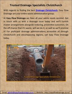 Finding to drainage services in christchurch? Today, Call US 0800 379 Flow, Things To Come, Easy