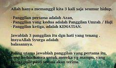 Panggilan Allah: azan, umrah/haji, kematian