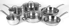 Oneida 10pc Stainless Steel Induction Ready Dishwasher Safe Cookware Set *** Want to know more, click on the image.-It is an affiliate link to Amazon.