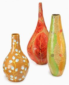 473  Heart of Haiti Vase Collection from Macy's. Really lovely. Those colours are bewitching! They make me feel calm and hopeful.
